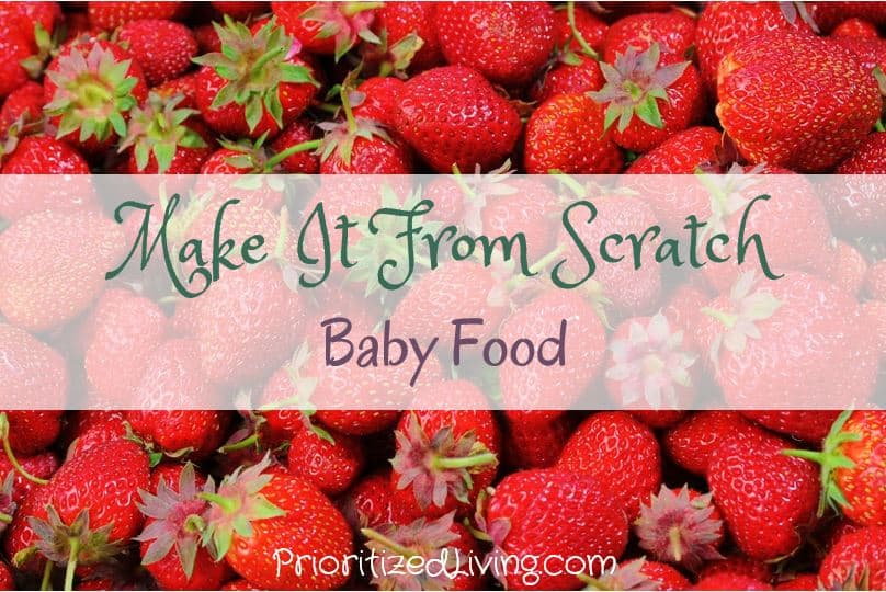 Make It From Scratch Baby Food