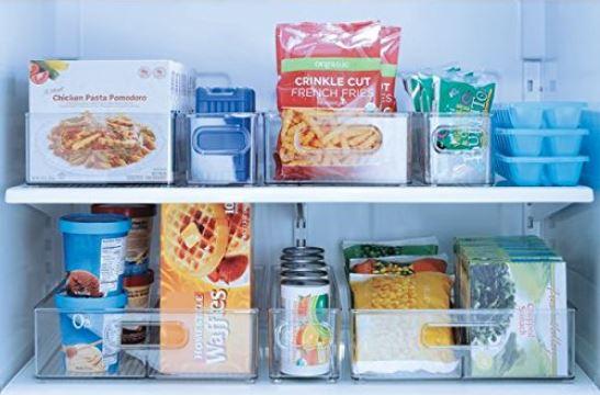 Refrigerator Organization - InterDesign Refrigerator or Freezer Storage Bin – Food Organizer Container for Kitchen - Deep Drawer, Clear