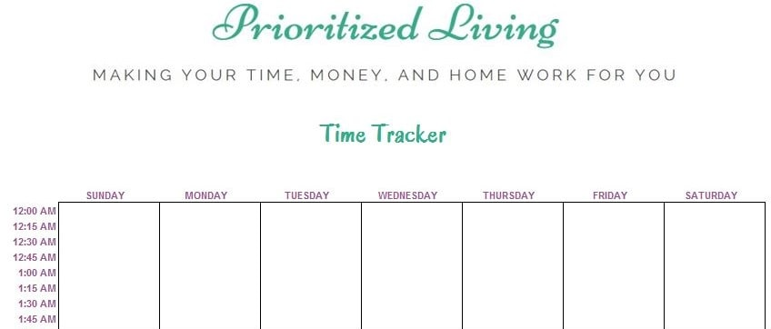 Prioritized Living Time Tracker Screenshot