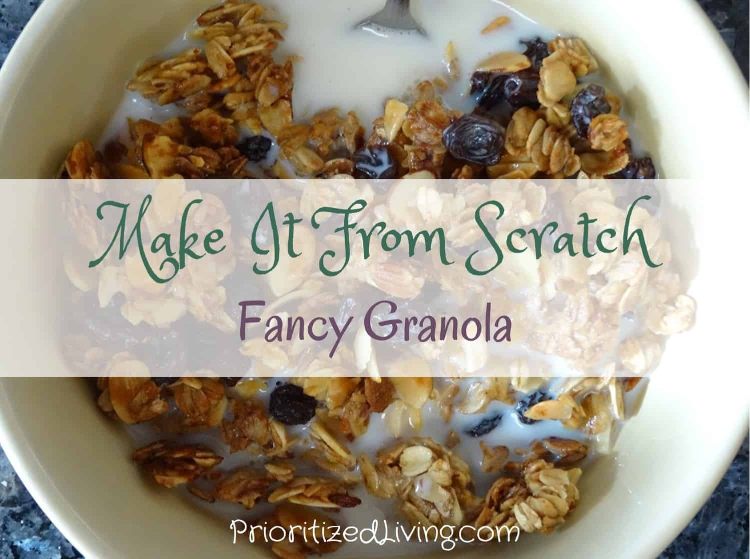 Make It From Scratch - Fancy Granola