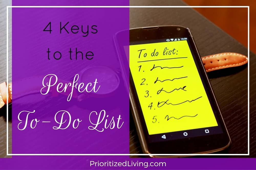 4 Keys to the Perfect To-Do List