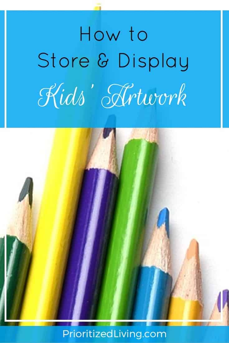 Overrun with your kids' masterpieces? Here are some fantastic ways to display, consolidate, store, organize, and enjoy your their artistic creations! - How to Store and Display Kids Artwork - Prioritized Living