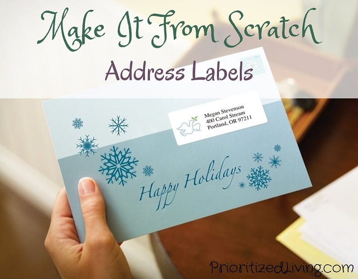 Make It From Scratch Address Labels