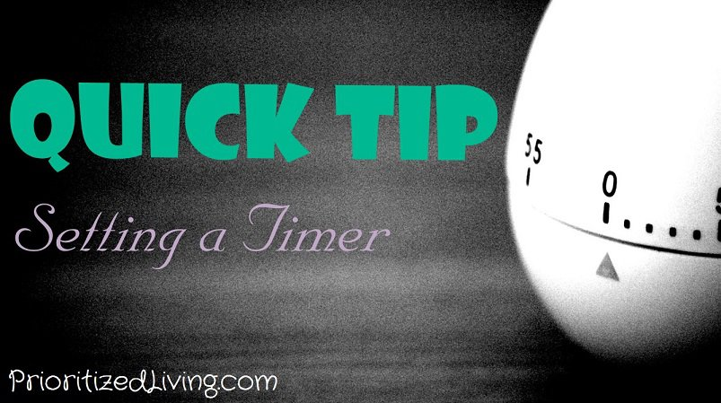 Quick Tip Setting a Timer