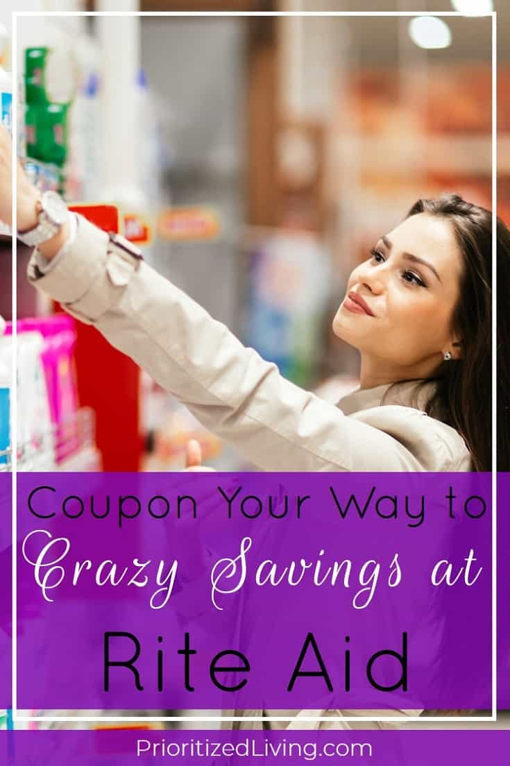 Want to play the drugstore game at Rite Aid? Here's your essential guide to couponing and saving big at the drugstore! | Coupon Your Way to Crazy Savings at Rite Aid | Prioritized Living