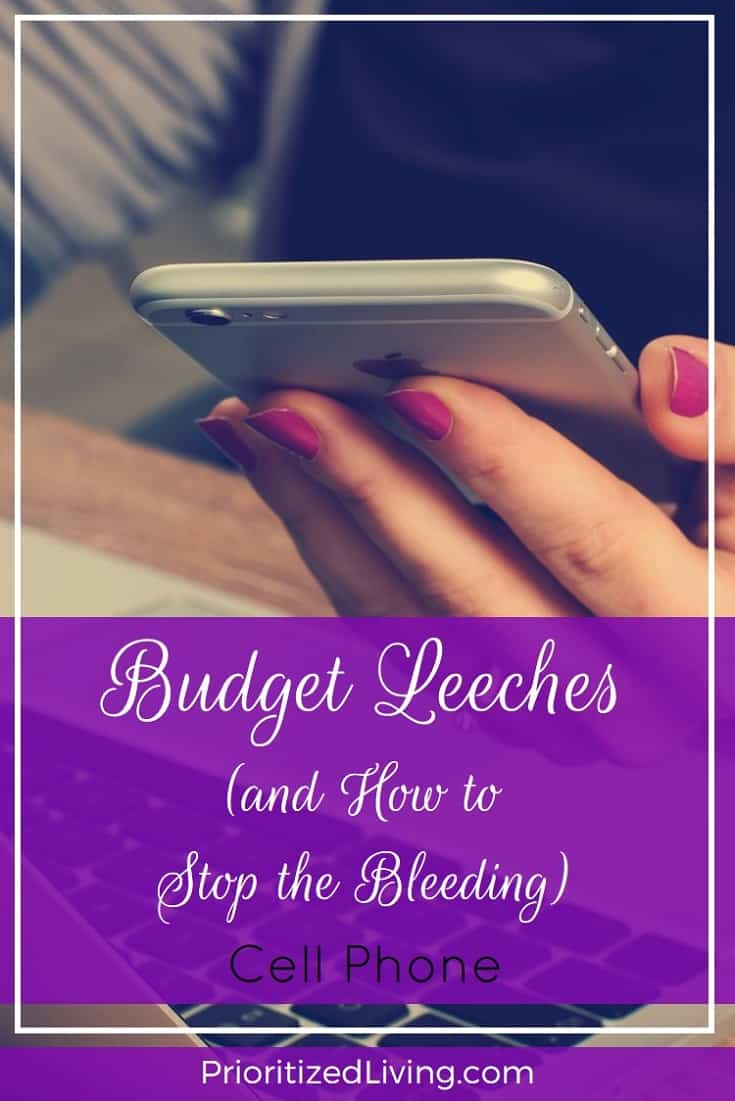 You've been saving, but where has your money gone?! Here are some of the biggest budget busters out there with tips for prying them off of your wallet. | Budget Leeches and How to Stop the Bleeding - Cell Phone | Prioritized Living