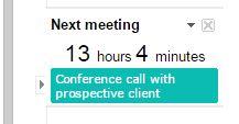Google Calendar Next Meeting