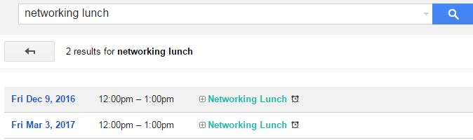 Search Google Calendar appointments with advanced search