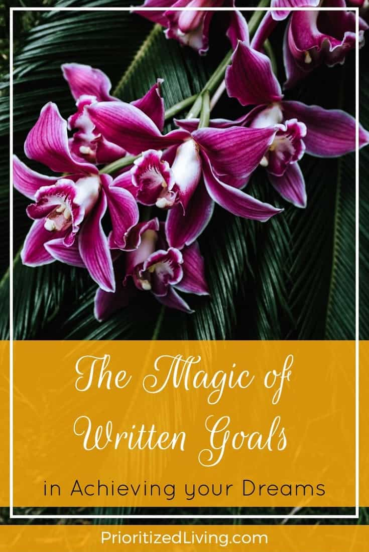 Do you know the secret to accomplishing big dreams and major goals? Tap into the proven power of a written goal list with these 8 steps to success. | The Magic of Written Goals in Achieving Your Dreams | Prioritized Living