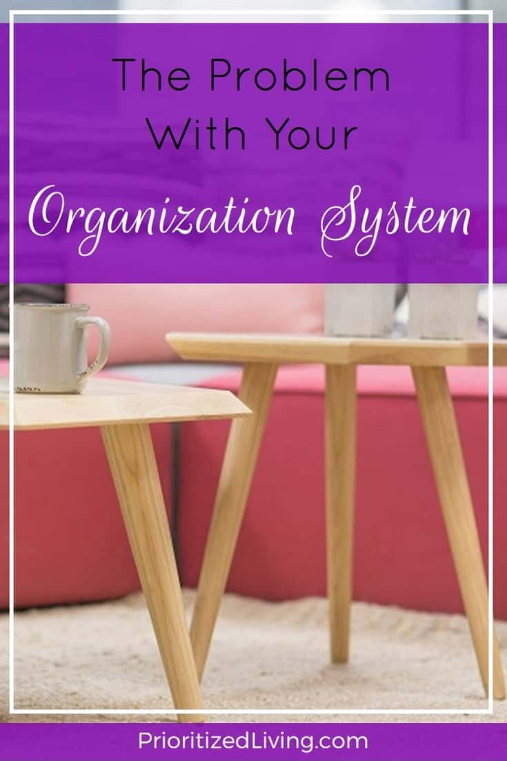 Want to get organized but need some help troubleshooting your clutter problem? Check out these easy fixes to your technical difficulties. | Get Organized: The Problem with Your Organization System | Prioritized Living