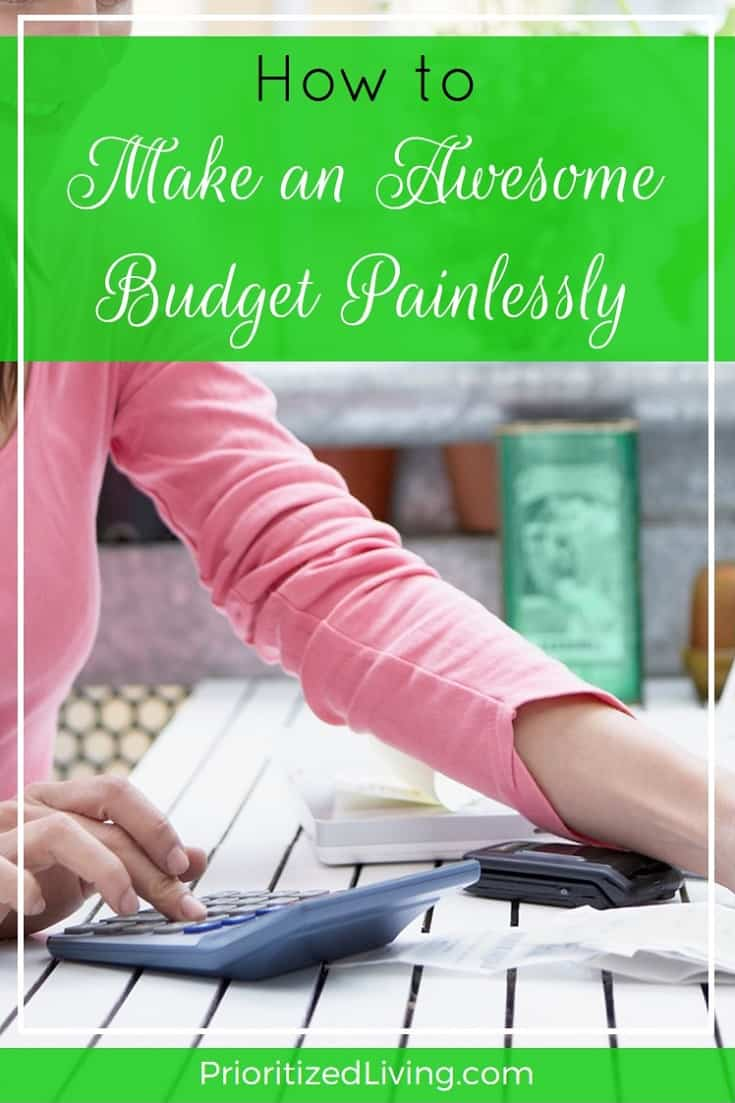 Tired of wondering where your money is going and too overwhelmed to make a budget from scratch? Here's just the tool you need! | How to Make an Awesome Budget Painlessly | Prioritized Living
