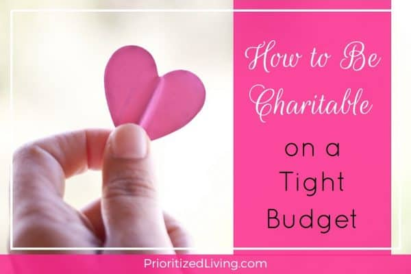 How to Be Charitable on a Tight Budget