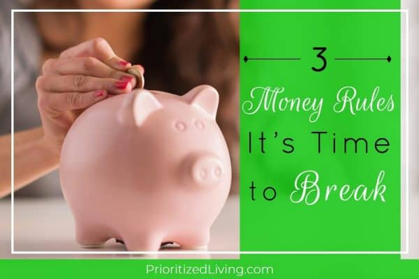 3 Money Rules It's Time to Break
