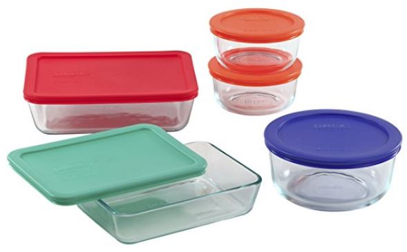 Refrigerator Organization - Pyrex 10-Piece Storage Set with Covers
