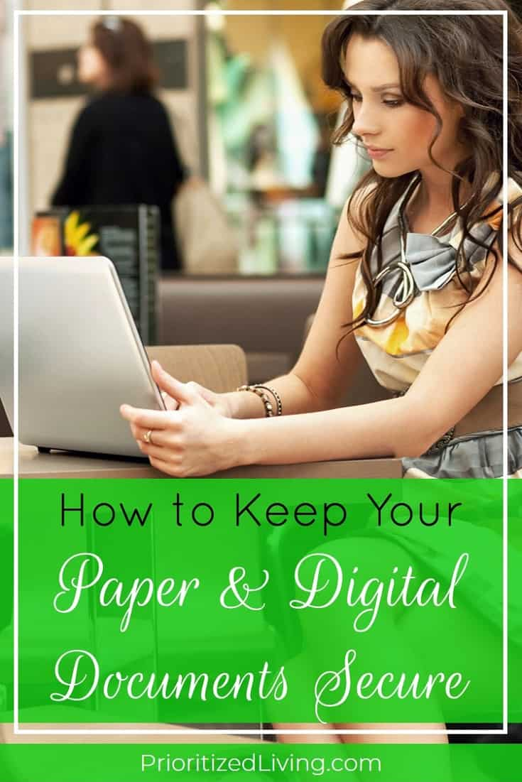 Looking to ensure that your most important records and documents are simultaneously preserved and accessible? Here are some key ways you can keep your precious papers safe and your digital documents secure. | How to Keep Your Paper & Digital Documents Secure | Prioritized Living
