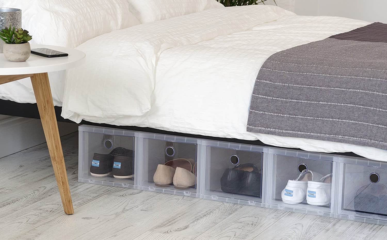 Pull-Down Shoe Boxes - Under Bed