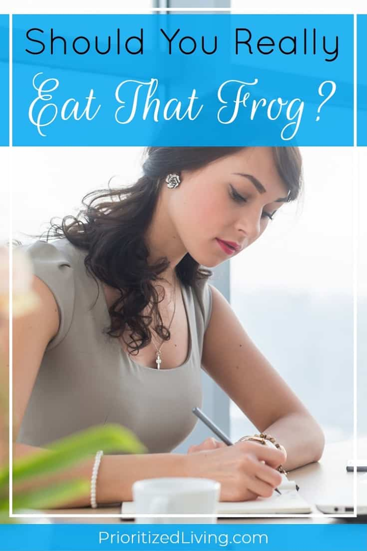 "Is ""Eat that frog!"" -- a mantra popularized by Mark Twain and Brian Tracy -- REALLY the best way to maximize your productivity? Here's your answer. 