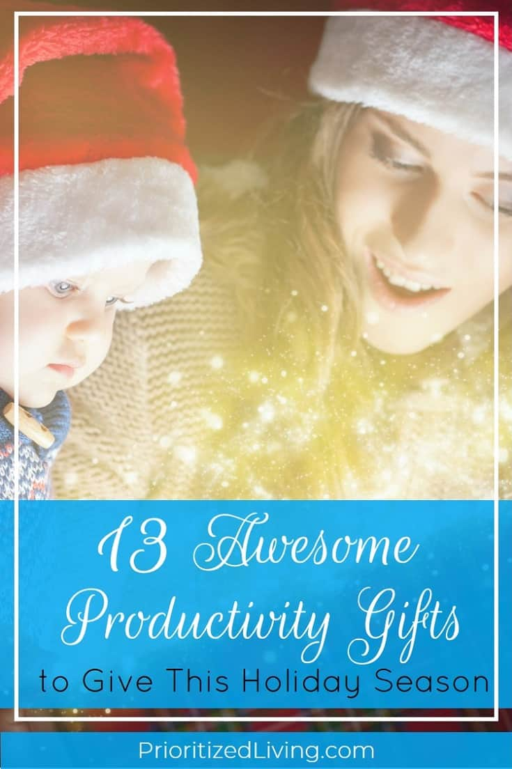 Ready to start shopping for the person in your life who wants to be super productive? Here's your perfect holiday gift guide for awesome productivity gifts!   13 Awesome Productivity Gifts to Give This Holiday Season   Prioritized Living