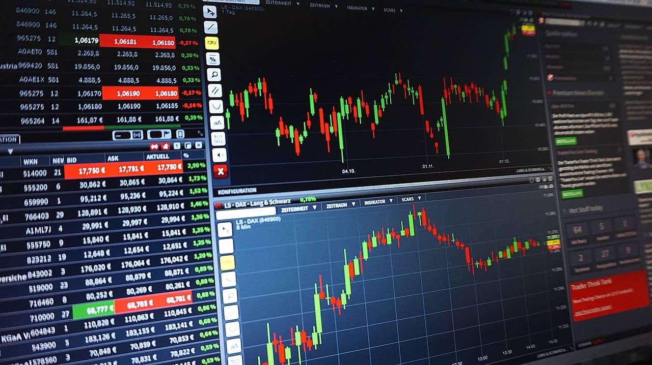 Stock market trend chart