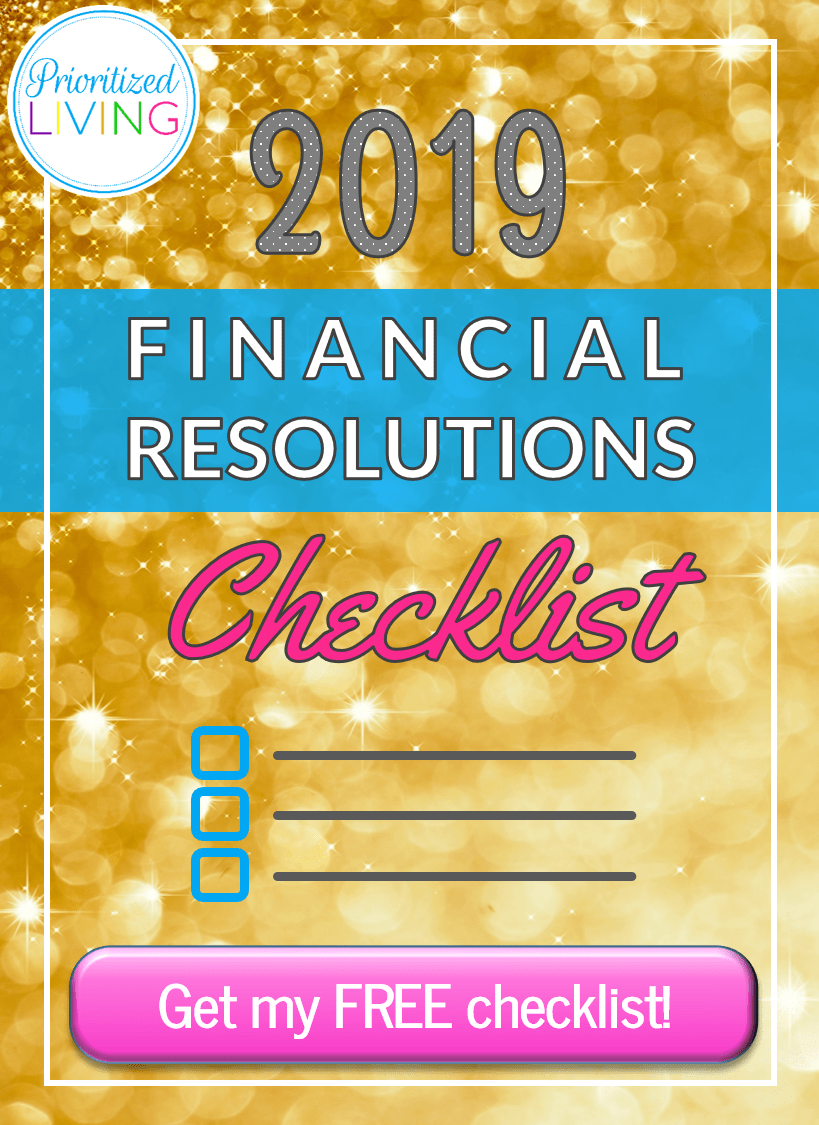 2019 Financial Resolutions Checklist