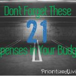 Don't Forget These 21 Expenses in Your Budget