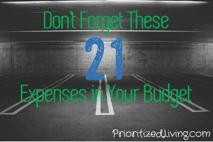 Dont Forget These 21 Expenses in Your Budget
