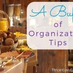 A Buffet of Organization Tips