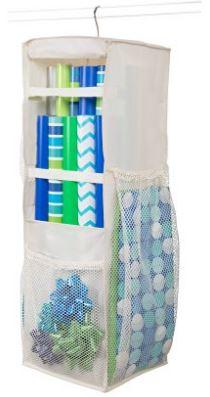 Hanging wrapper storage