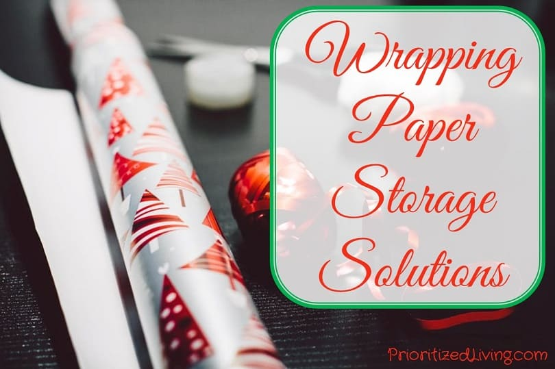 Wrapping Paper Storage Solutions