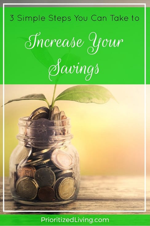Who wouldn't love to boost her savings? And right now too? Here are three super easy ways you can rapidly increase your savings. -- Prioritized Living