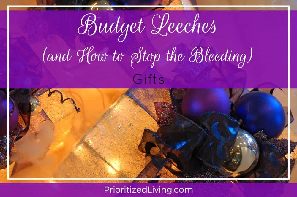 Budget Leeches and How to Stop the Bleeding - Gifts