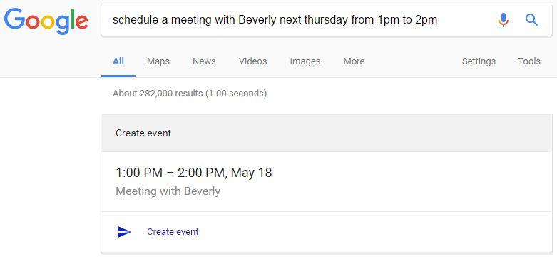 Create Google Calendar event