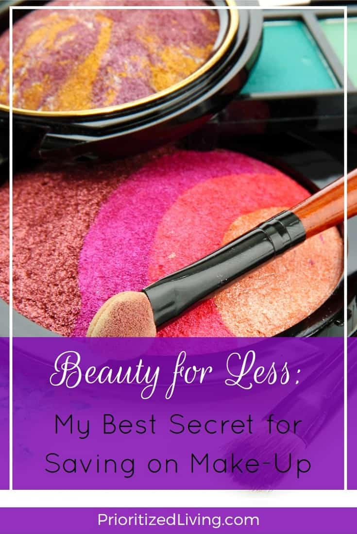 So are you tired of shelling out a wad of twenties for your beauty products? Here's my secret for saving 50% or more on my favorite make-up brands.   Beauty for Less - My Best Secret for Saving on Make-Up   Prioritized Living