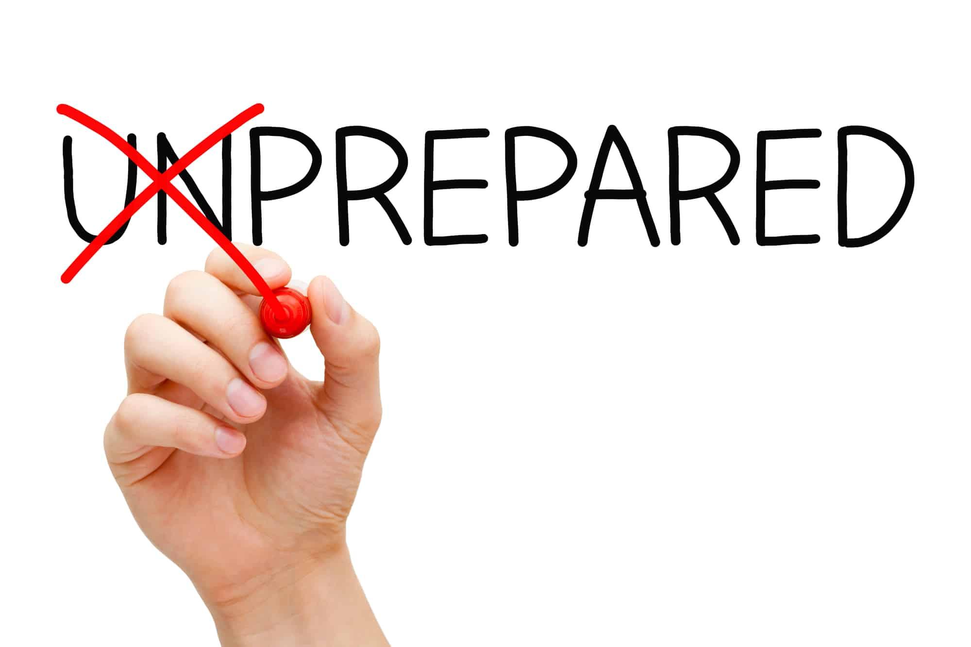 prepared vs unprepared