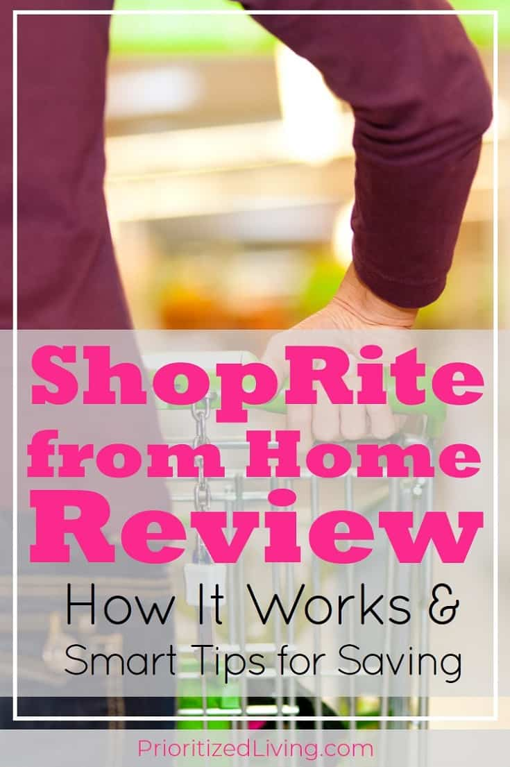 Everything you need to know about ShopRite from home -- how it works, tips for saving time, and secrets to saving money with this service. | Skip the Store & Stock Your Pantry with ShopRite from Home | Prioritized Living