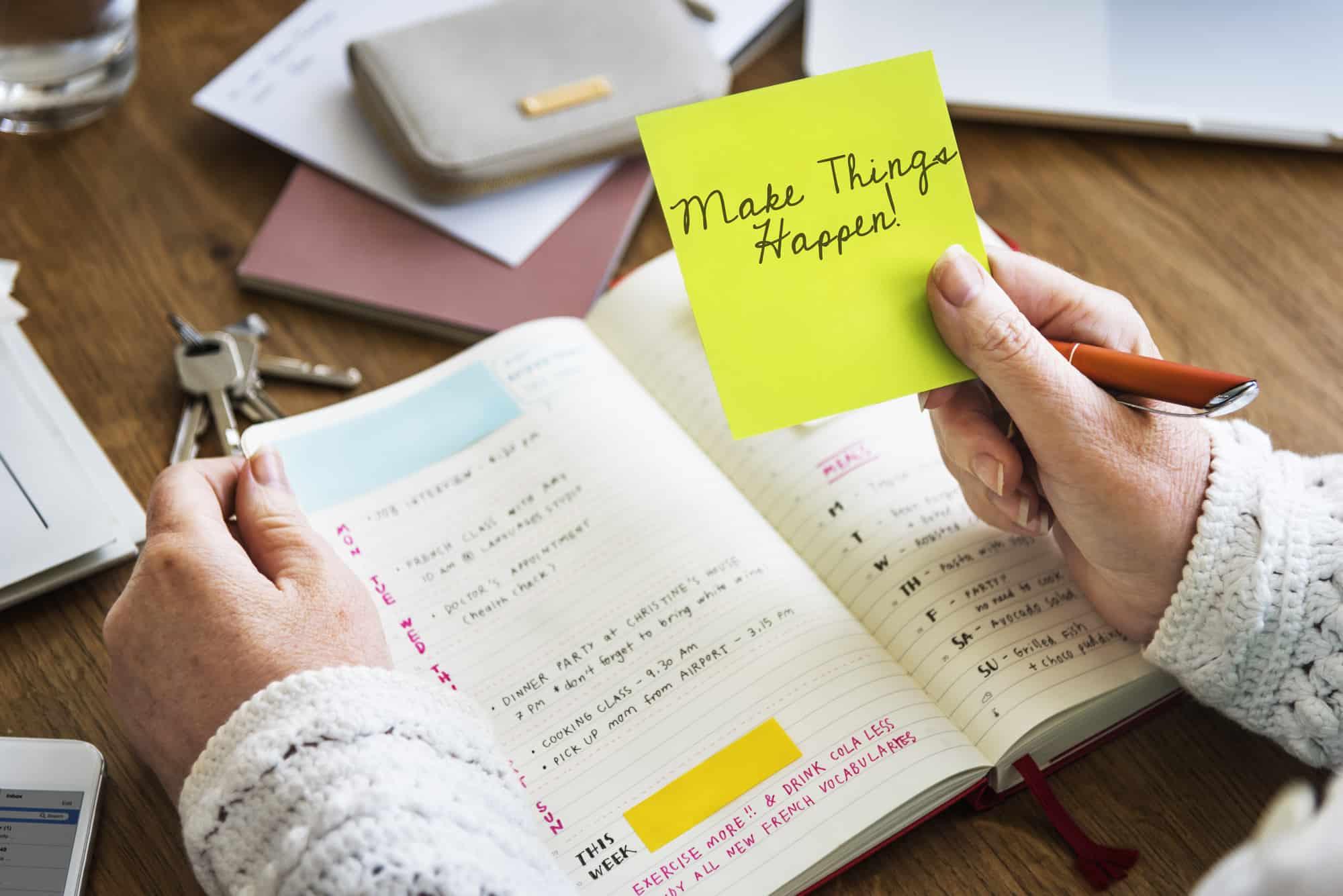 list of activities in planner