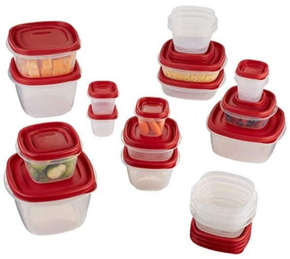 Refrigerator Organization - Rubbermaid Easy Find Lid 40-Piece Food Storage Container Set