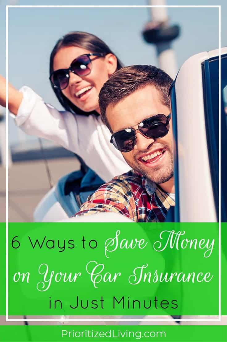 There are steps you can take right now to save money on your car insurance rates. Here are 6 hacks for lowering your auto premiums today. | 6 Ways to Save Money on Your Car Insurance in Just Minutes | Prioritized Living