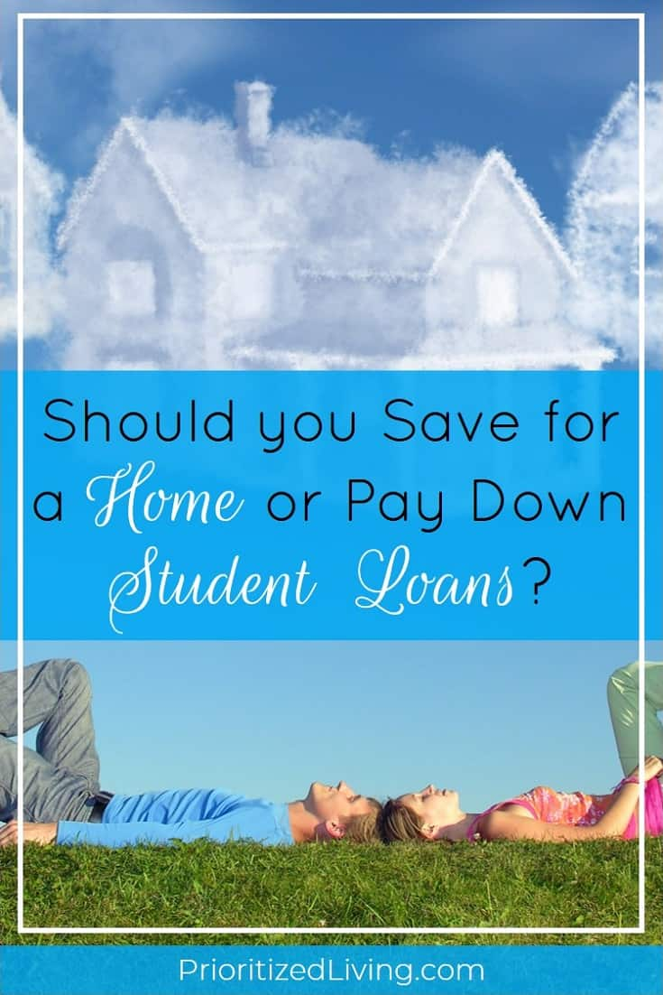 Should you pay down your student loan debt or save for a home down payment? Here's how you can choose the best financial path while juggling priorities. | Should You Save for a Home or Pay Down Student Loans? | Prioritized Living