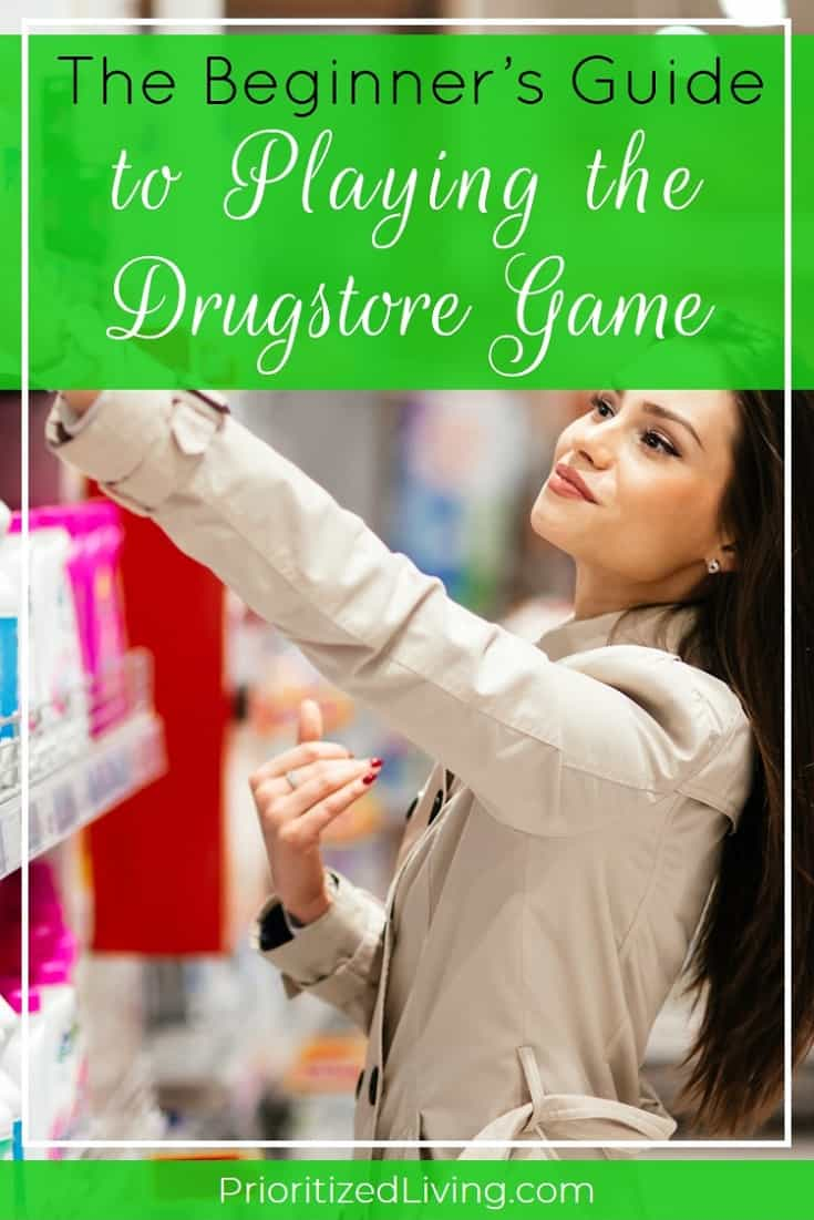 Want to get your drugstore finds at steep discounts or even for free? Playing the drugstore game is easier than you think! Here's how to get started. | The Beginner's Guide to Playing the Drugstore Game | Prioritized Living