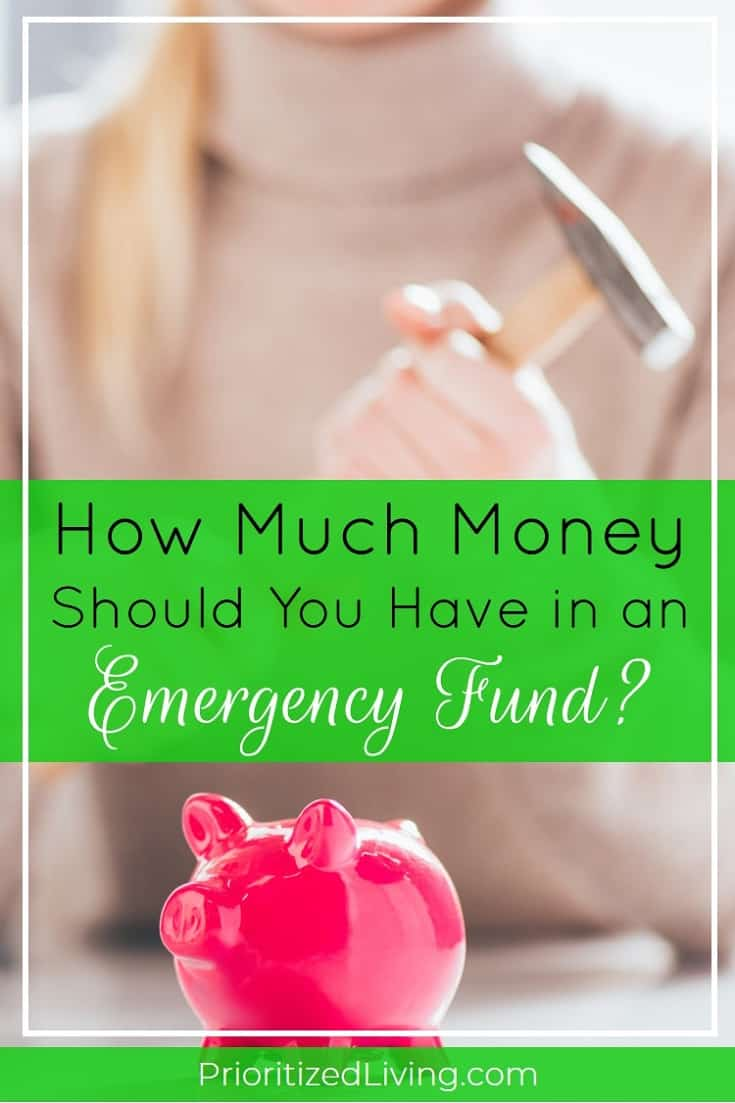 You know you need an emergency fund. But what's that magic target number? Here's how to figure out how much money YOU should have in savings. | How Much Money Should You Have in an Emergency Fund? | Prioritized Living