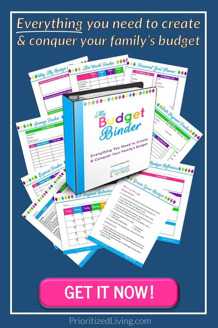 Create a budget and stick to that budget with the tool designed for your busy life. Making a budget, mastering your money, & achieving your financial dreams has never been easier! | My Budget Binder | Prioritized Living
