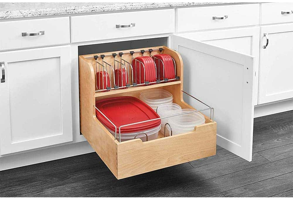 pull-out food storage container organizer