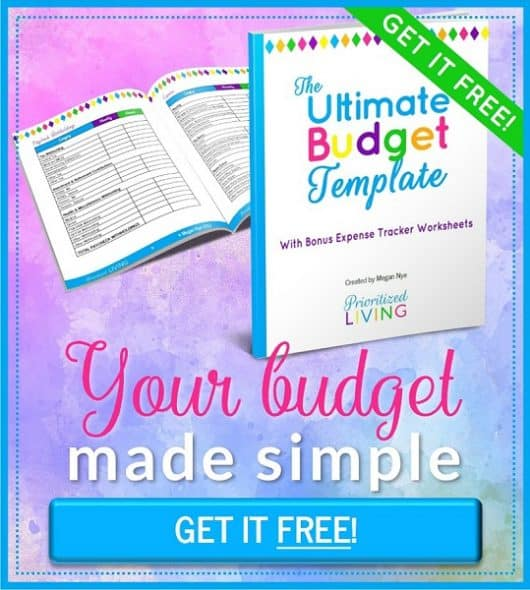 The Ultimate Budget Template from Prioritized Living -- GET IT FREE!