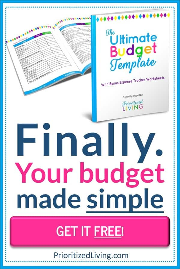 The Ultimate Budget Template from Prioritized Living - GET IT FREE