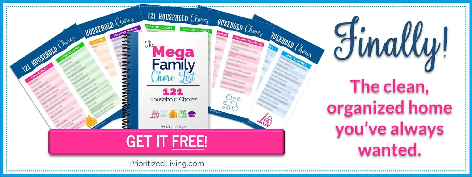 The Mega Family Chore List: 121 Household Chores