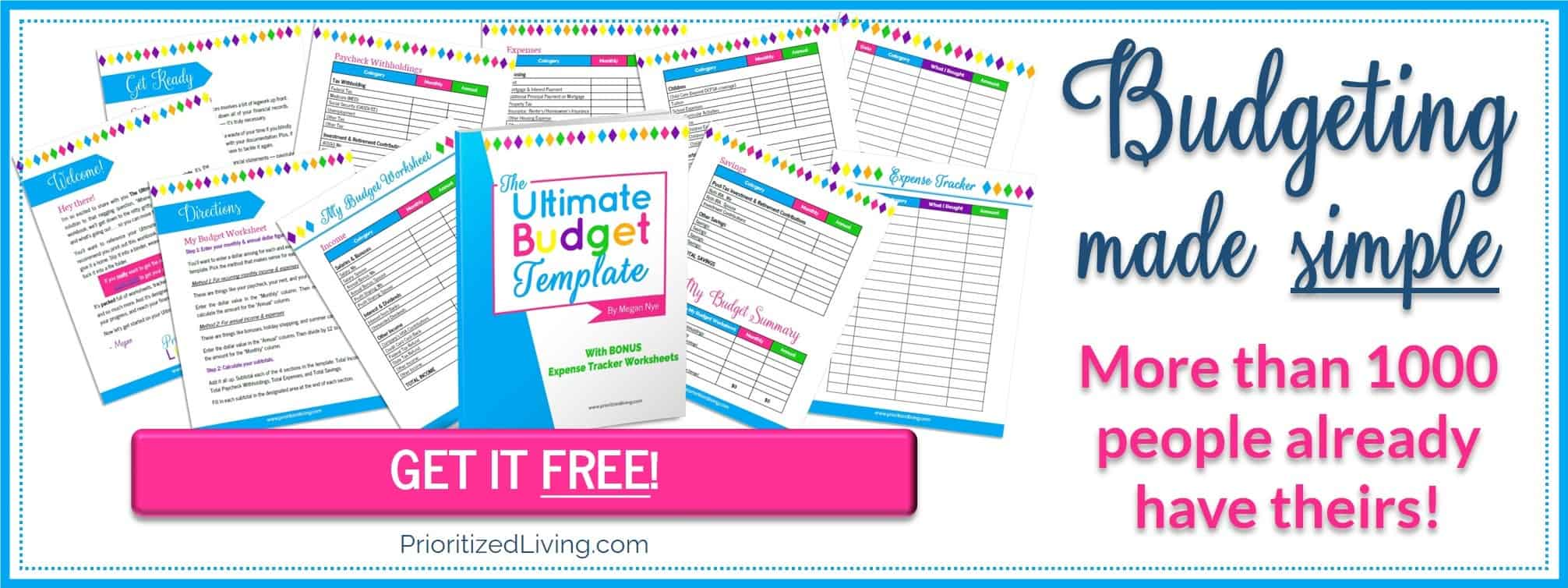 GET IT FREE: The Ultimate Budget Template